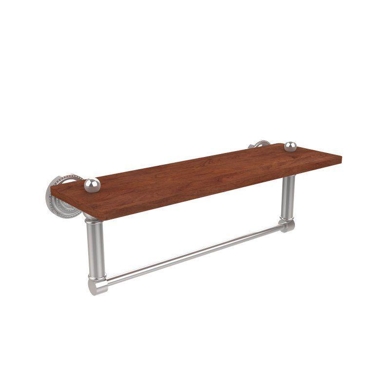 Allied Brass Dottingham Solid IPE Ironwood Shelf with Integrated Towel Bar - DT-1TB-22-IRW-PC