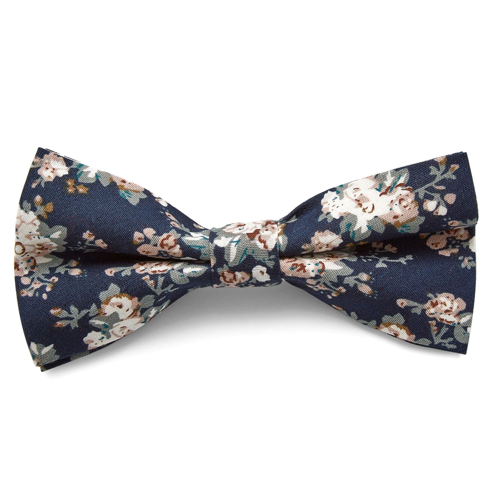 Dark Blue Flower Bow Tie | In stock! | Tailor Toki #pastelpattern
