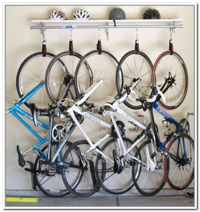 Hanging Bike Storage Systems Biking Diy Bike Rack