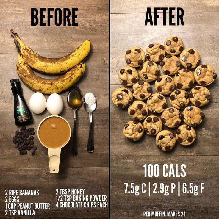 Josh Cortis on Instagram Banana Chocolate Chip Muffins Gluten free grain f  Brot Brötchen  Backen