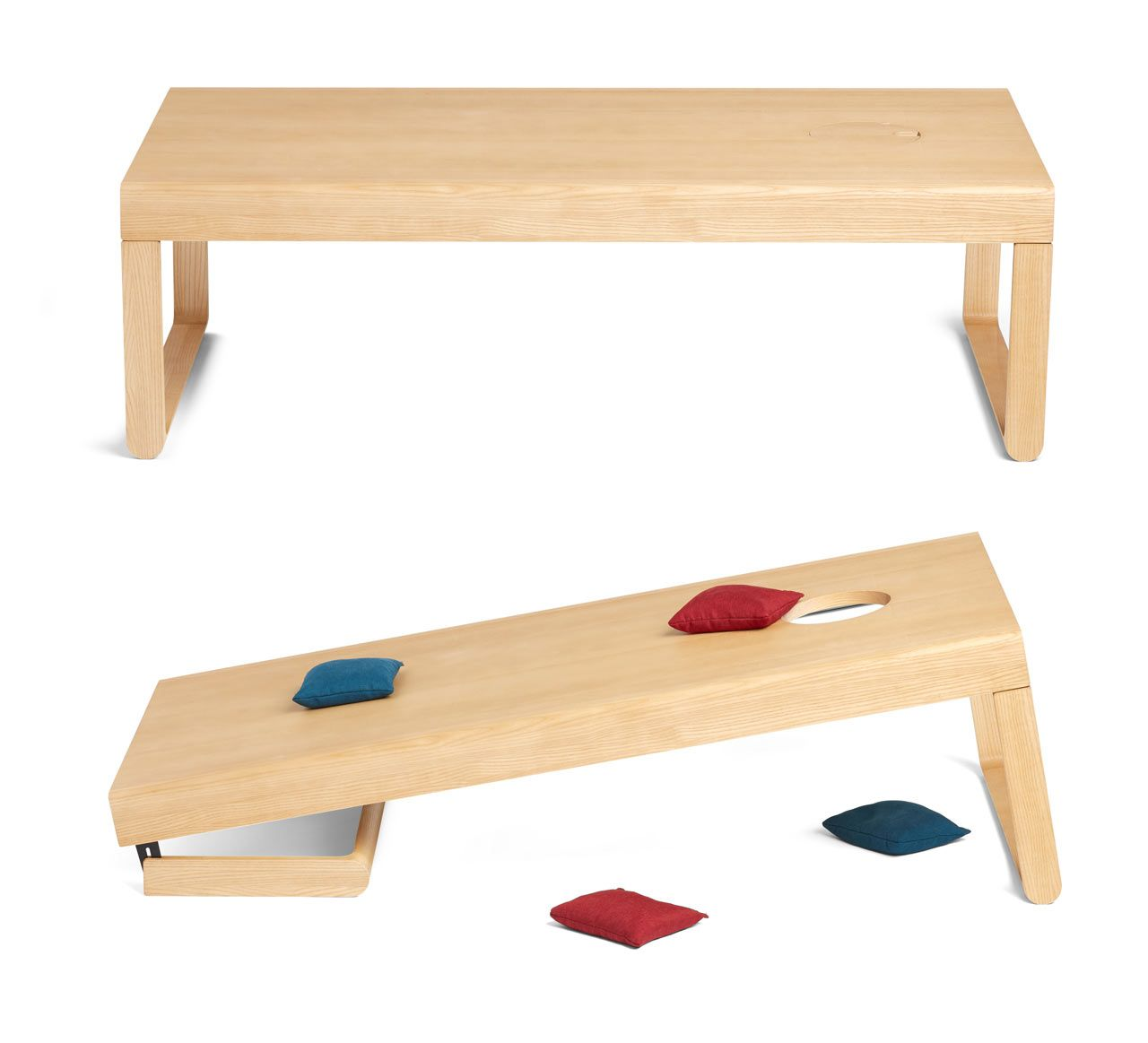 Poppin S Take Aim Coffee Table Easily Converts For A Game Of