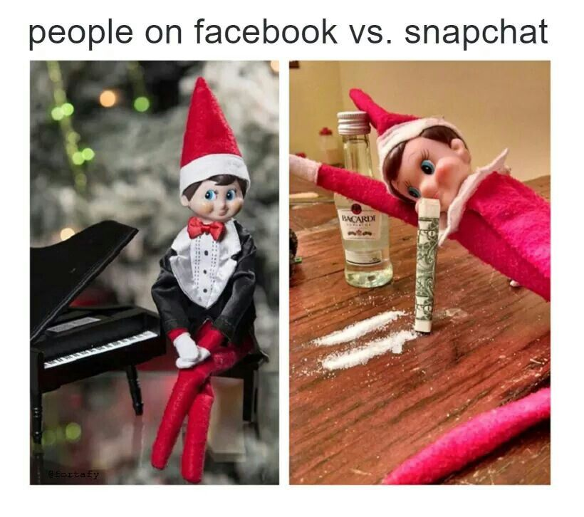 Facebook / Snapchat | Elf on a Shelf. ......Stuff ...