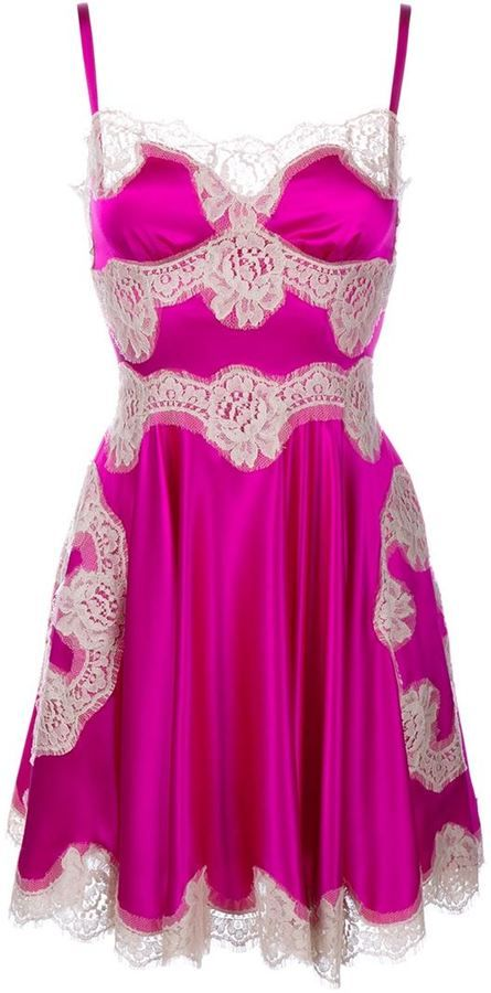 ddefdfd851566 Dolce & Gabbana Silk and Lace Slip Dress | fashion that I fashion ...