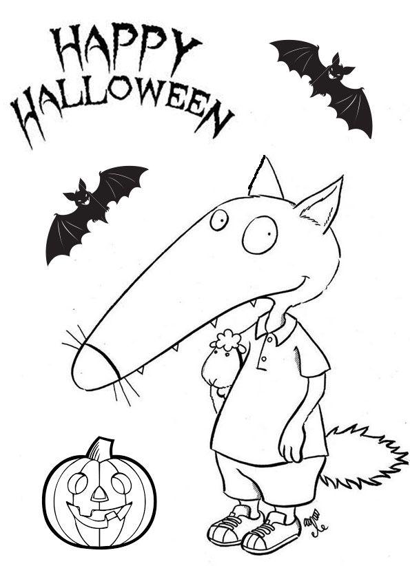 Loup halloween de wollef - Coloriage p tit loup ...