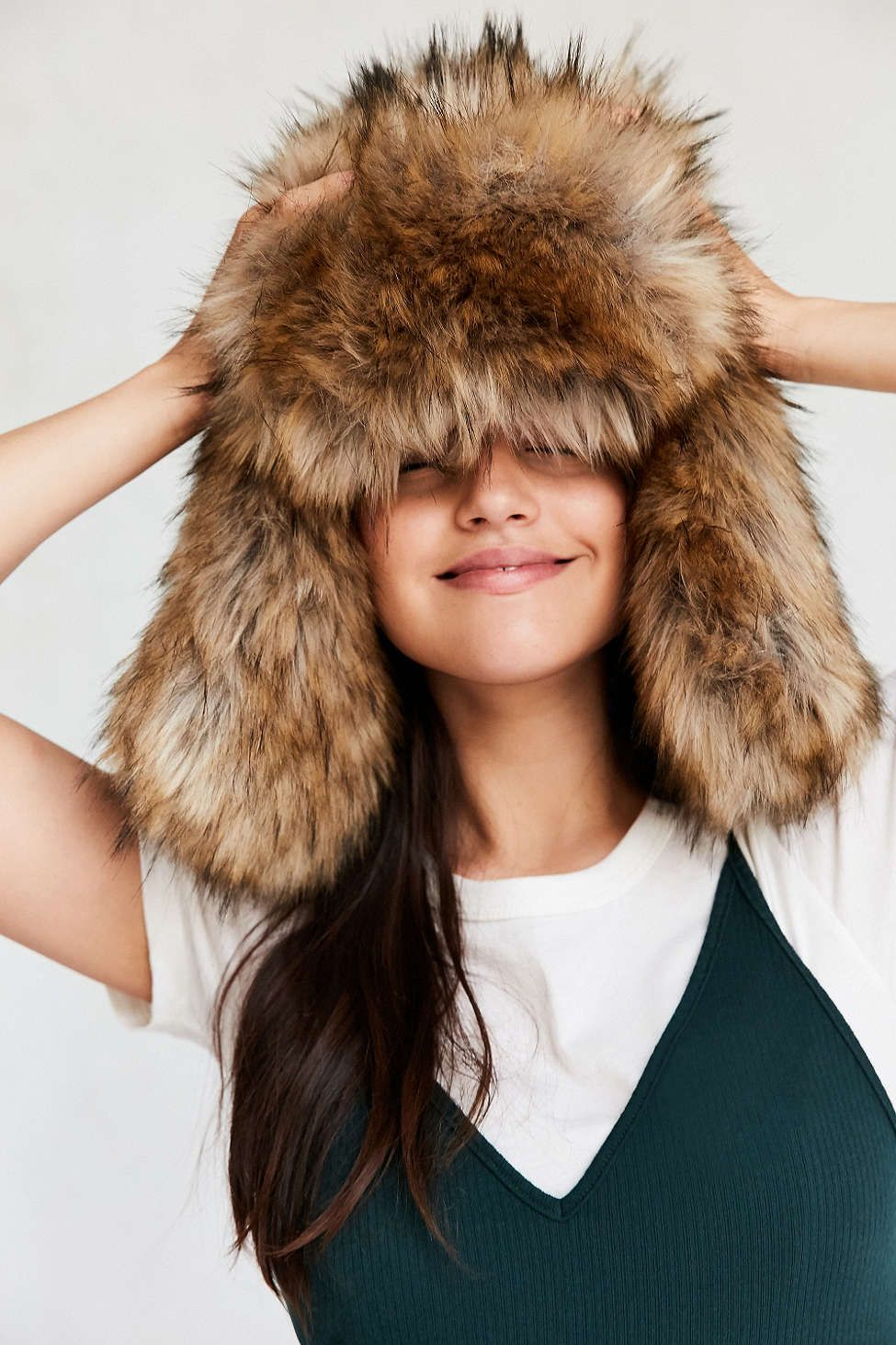 fd1a27ab17d52 Oversized Faux Fur Trapper Hat - Urban Outfitters