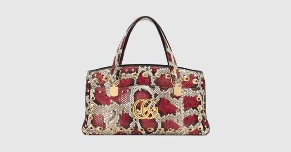 cc95bcd6d964 Arli large snakeskin top handle bag | Gucci: Alessandro Michele ...
