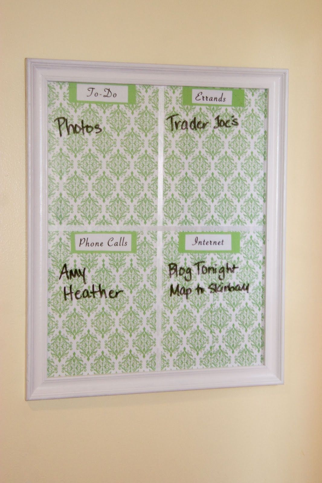 The Wonder Years Diy Kitchen Memo Board With Images Kitchen