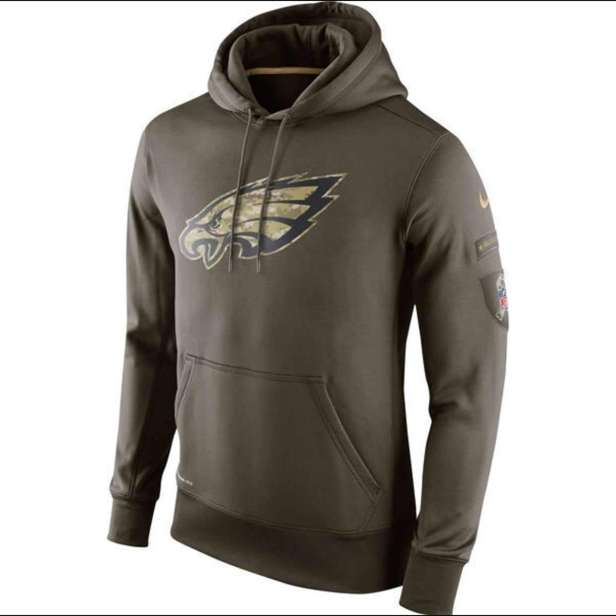 philadelphia eagles military sweatshirt