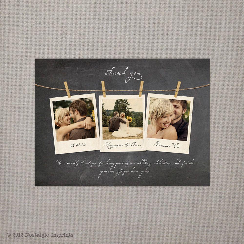 Dankeskarte basteln - Polaroid karten ...