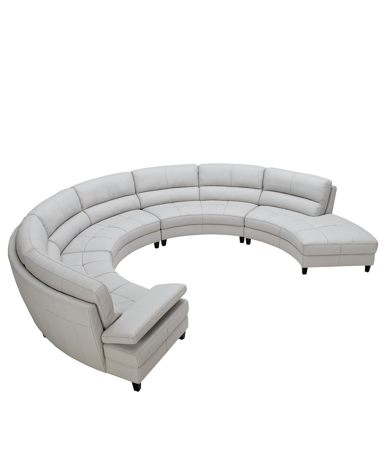 Best Franchesca Leather Sectional Sofa 4 Piece Round Sofa 400 x 300