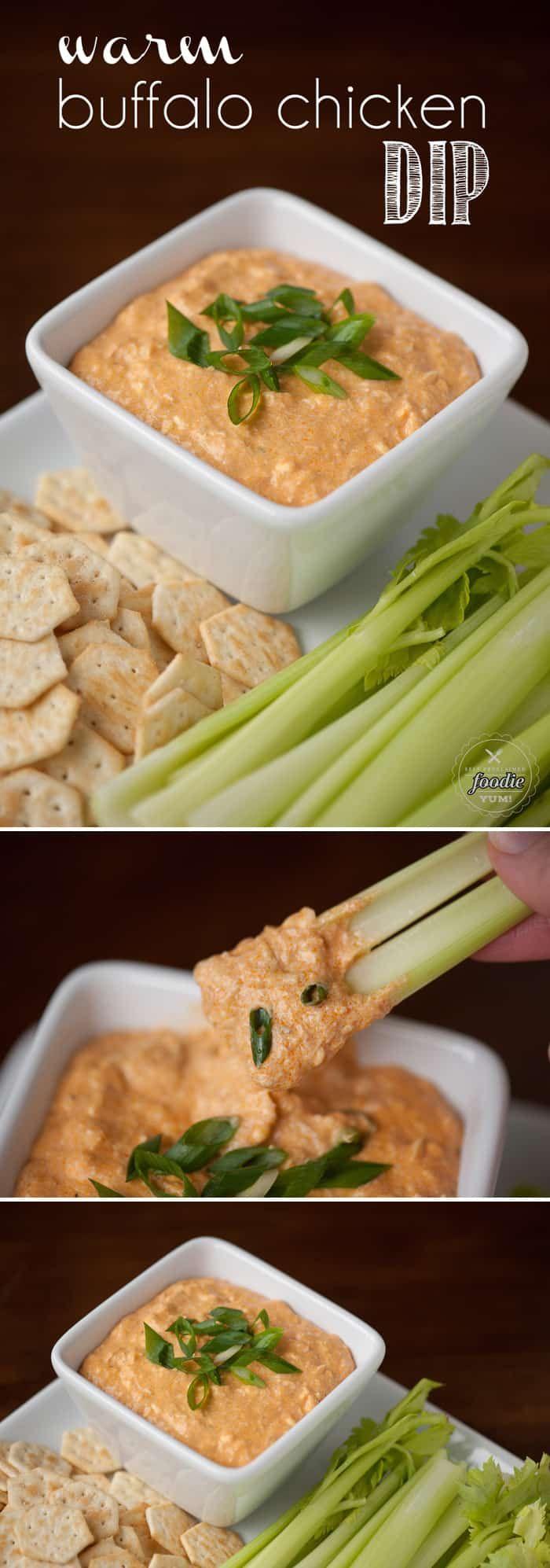 {The BEST} Warm Buffalo Chicken Dip Recipe | Self Proclaimed Foodie