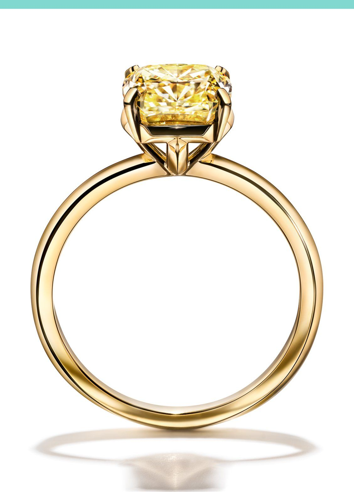 1543a69580335 Tiffany True Engagement Ring in 18k Yellow Gold in 2019 | Tiffany ...