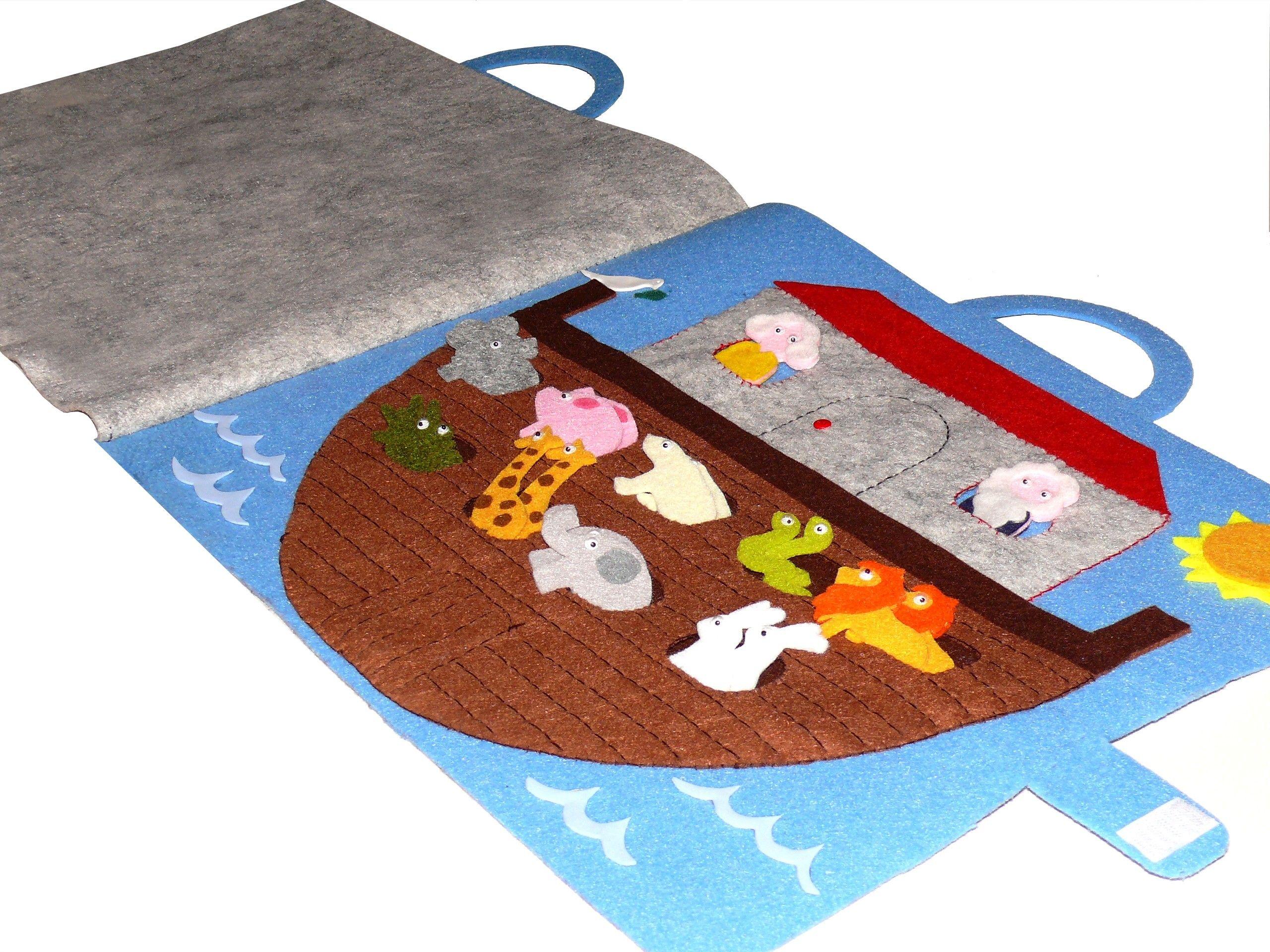 Libro gioco in feltro e pannolenci quot arca di noè
