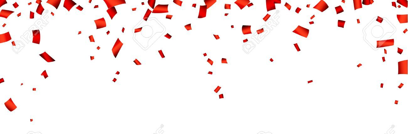 Celebration Banner With Red Confetti Vector Background Ad Red Banner Celebration Background Vector Banner Vector Background Vector Character