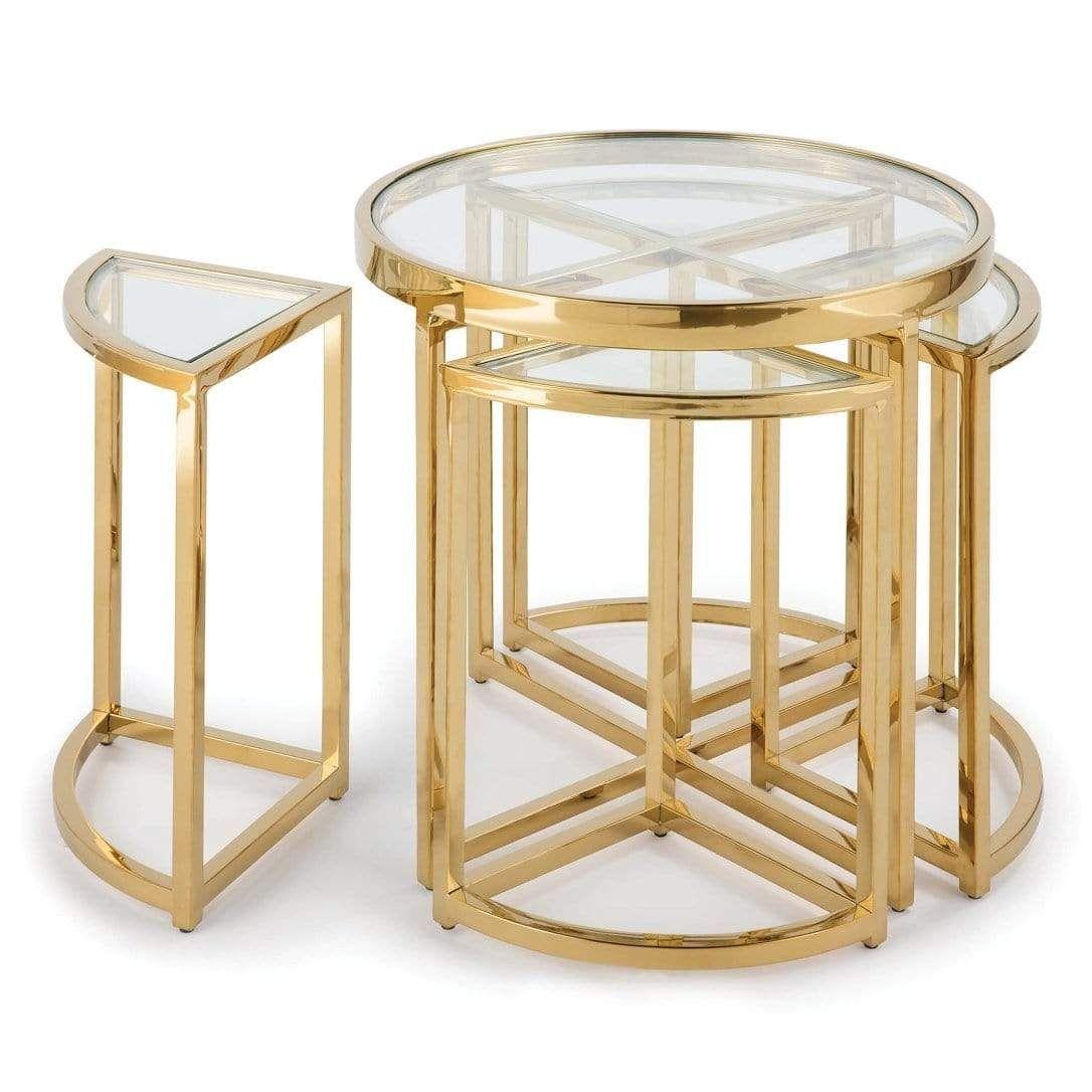 Regina Andrew Majestic Side Table Set Gold Side Table Glass Side Tables Gold Side Table [ 1086 x 1086 Pixel ]