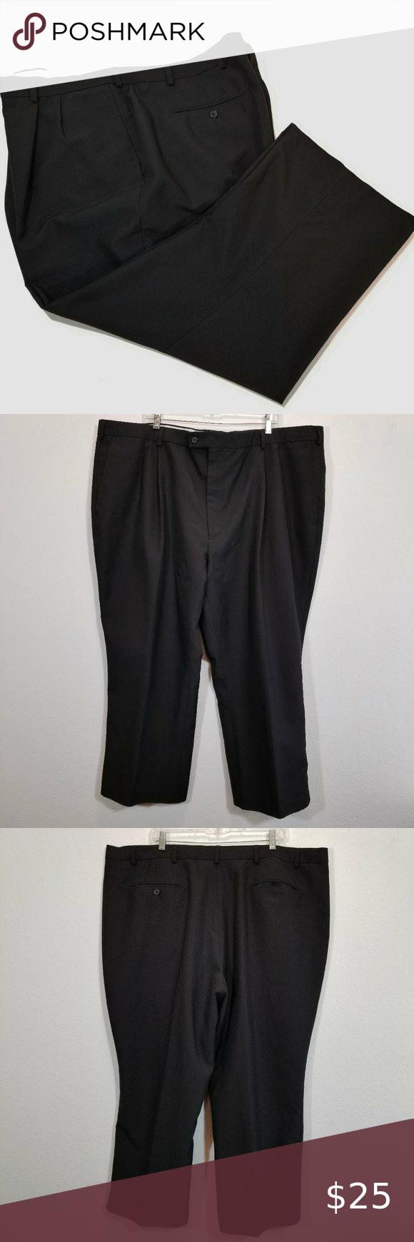 Haband Mens Dress Pants Size 37 x 31 Black
