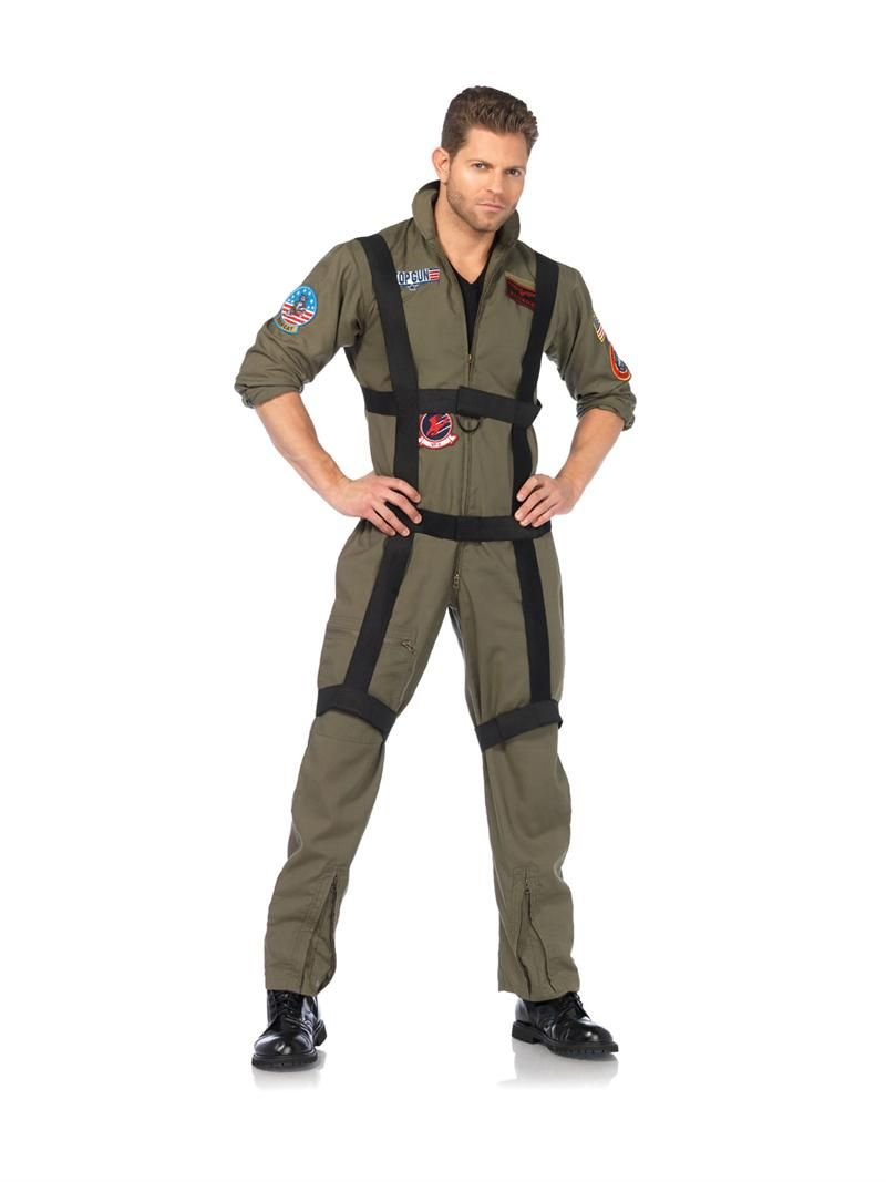 mens top gun paratrooper adult halloween costume leg avenue 85513