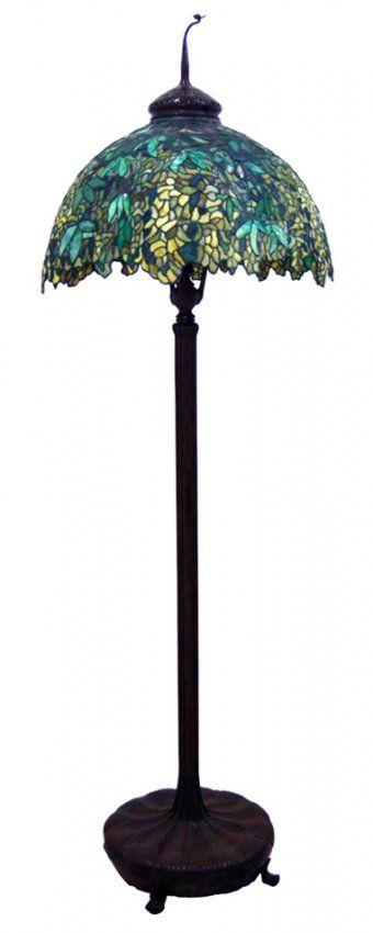 7523 Genuine Antique Tiffany Laburnum Floor Lamp Lot 8340