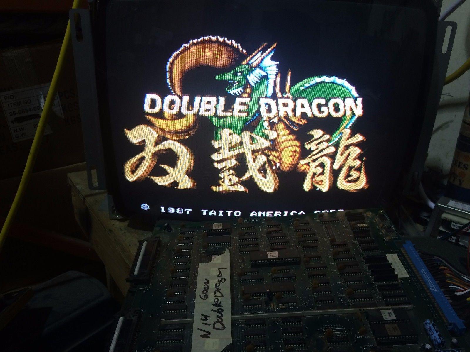 Technos Double Dragon Arcade Game Pcb Circuit Board N14 Vintage Games
