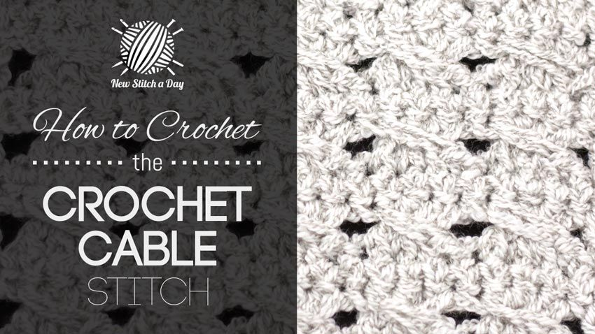 How to Crochet the Crochet Cable Stitch   Crochet   Pinterest ...
