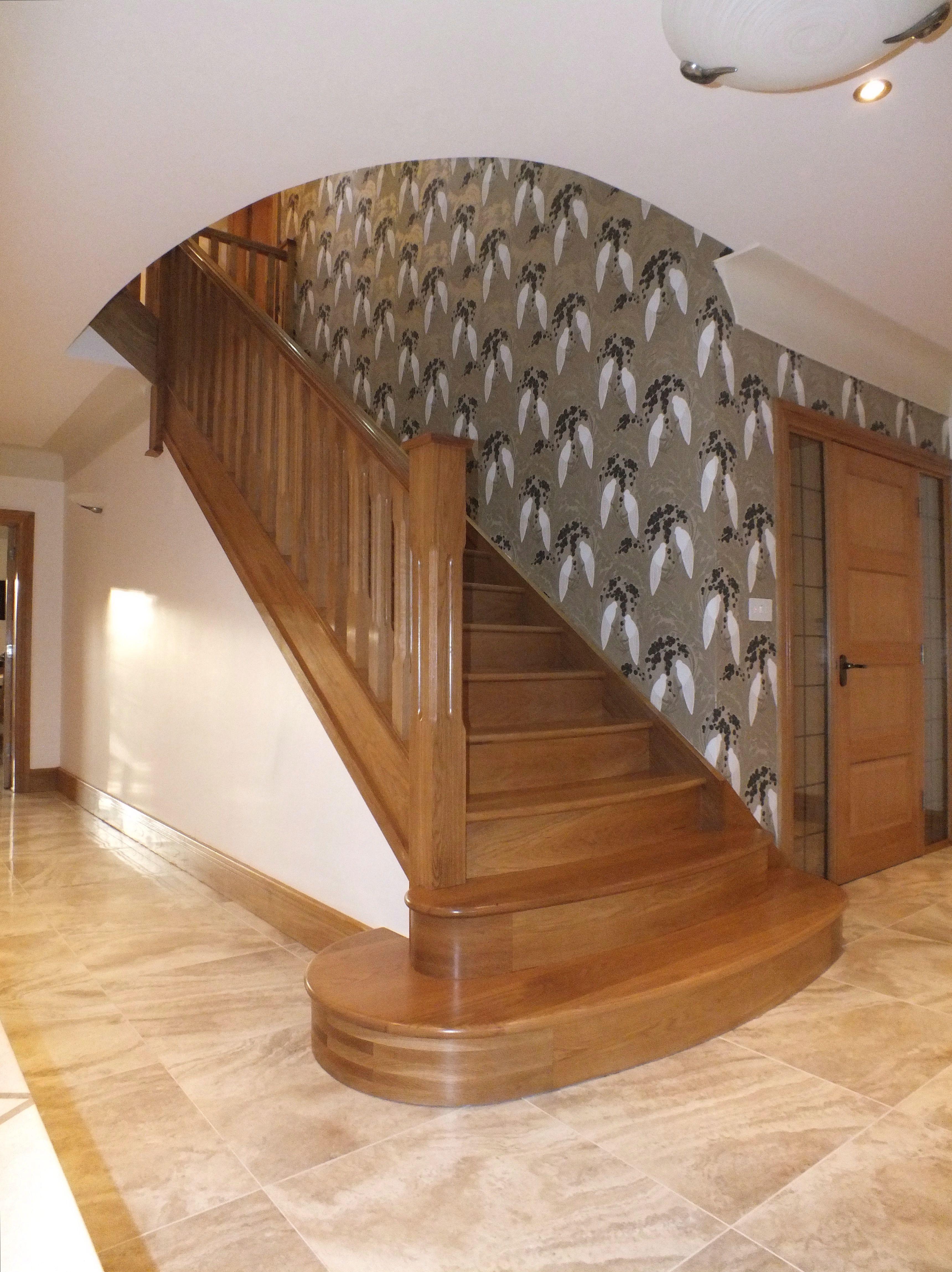 quite like the rounded bottom stair design in 2019 pinterest rh pinterest com