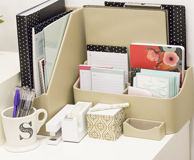 getting organized with office depotsee jane work sakuras picks - Work Desk Organization Ideas