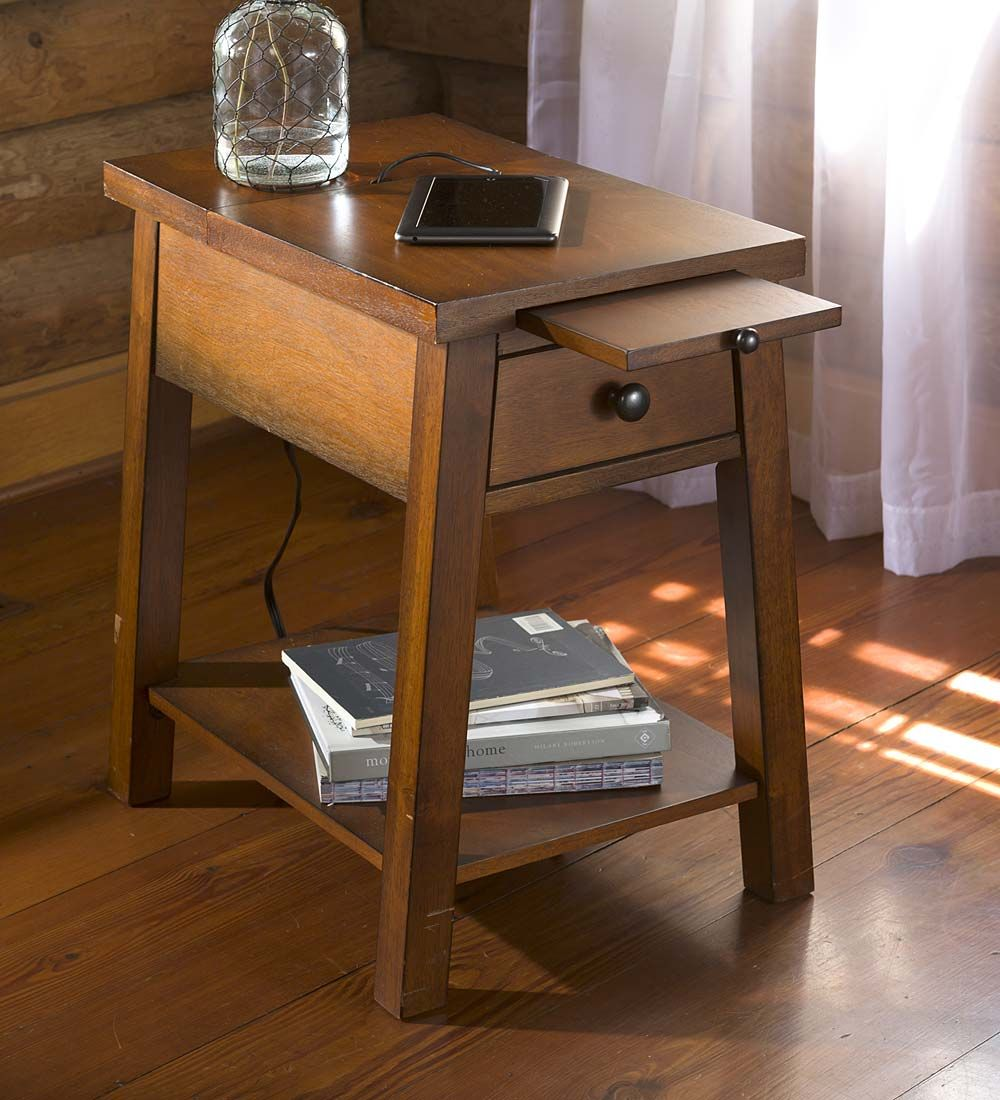 Best Wood Accent Table With Charging Station Functional 640 x 480