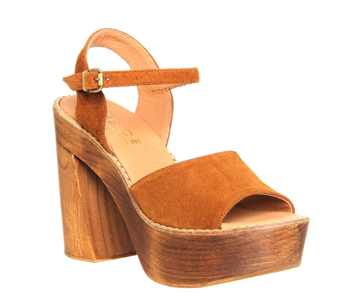 4d684163877e Buy Tan Suede Office Porter Chunky Heel Sandal from OFFICE.co.uk ...