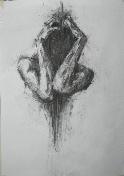 kunst, künstlerisch, schön, dunkel, zeichnen, zeichnen, verstecken, bedeutung, malen, bleistift, bild, talent, talentiert – Mehmet Ceylan – Herz