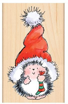 Biglietti Di Natale Spiritosi.Santa S Hat Wood Rubber Stamp Disegni Spiritosi Idee Di Natale