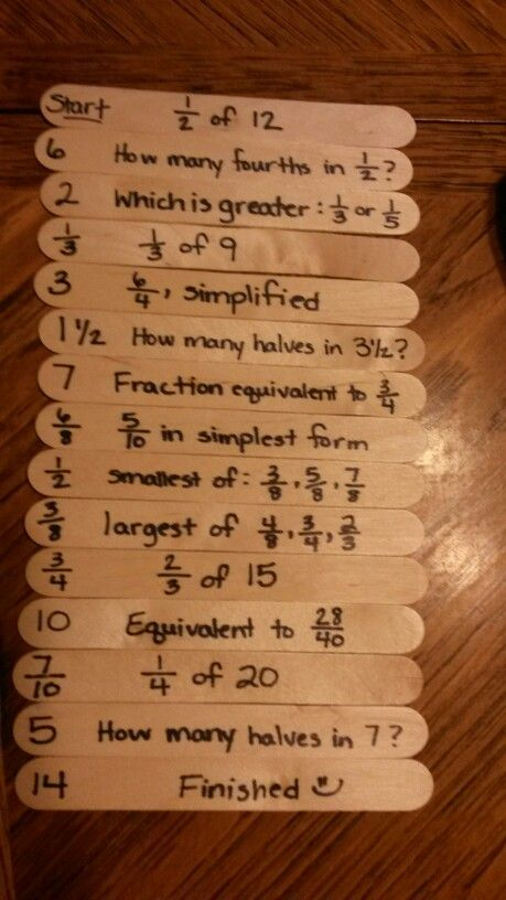 Fraction Basic Concepts Practice Sticks Grades 5 6 7 8 Education Math Math Games Middle School Middle School Math