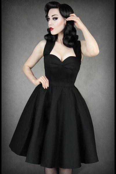 Black Cotton Pinup Prom Dress by Restyle | ཞơƈƙąცıƖƖყ ℘ıŋų ...
