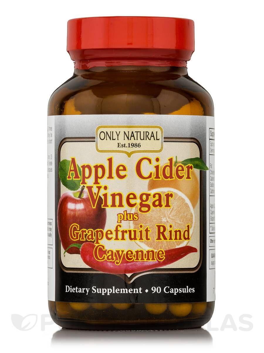 Apple Cider Vinegar Plus Grapefruit Rind, Cayenne 90