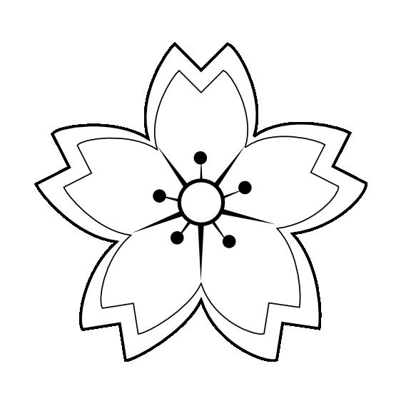black flower png Flower Sakura