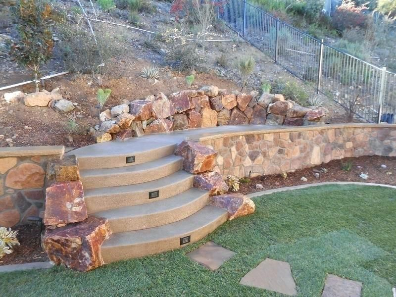 Inexpensive Retaining Wall Ideas Backyard Rock Retaining Wall And Landscape Quality Living Ca Styli Backyard Retaining Walls Rock Retaining Wall Retaining Wall
