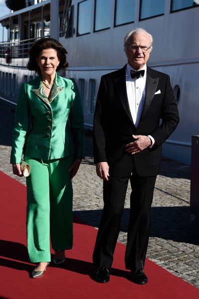 zimbio: Pre-Wedding Dinner, Stockholm, Sweden, June 12, 2015-Queen Silvia and King Carl Gustaf