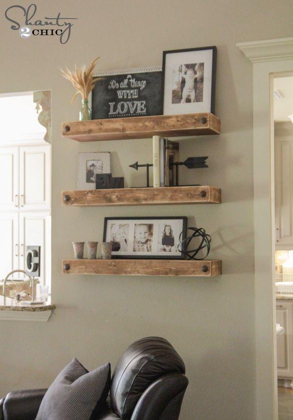 Diy Floating Shelves With Clavos Floating Shelves Living Room