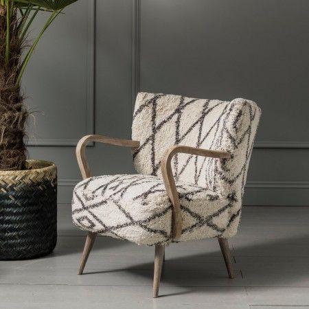 Mina Printed Armchair Print Armchair Armchair Patterned Chair
