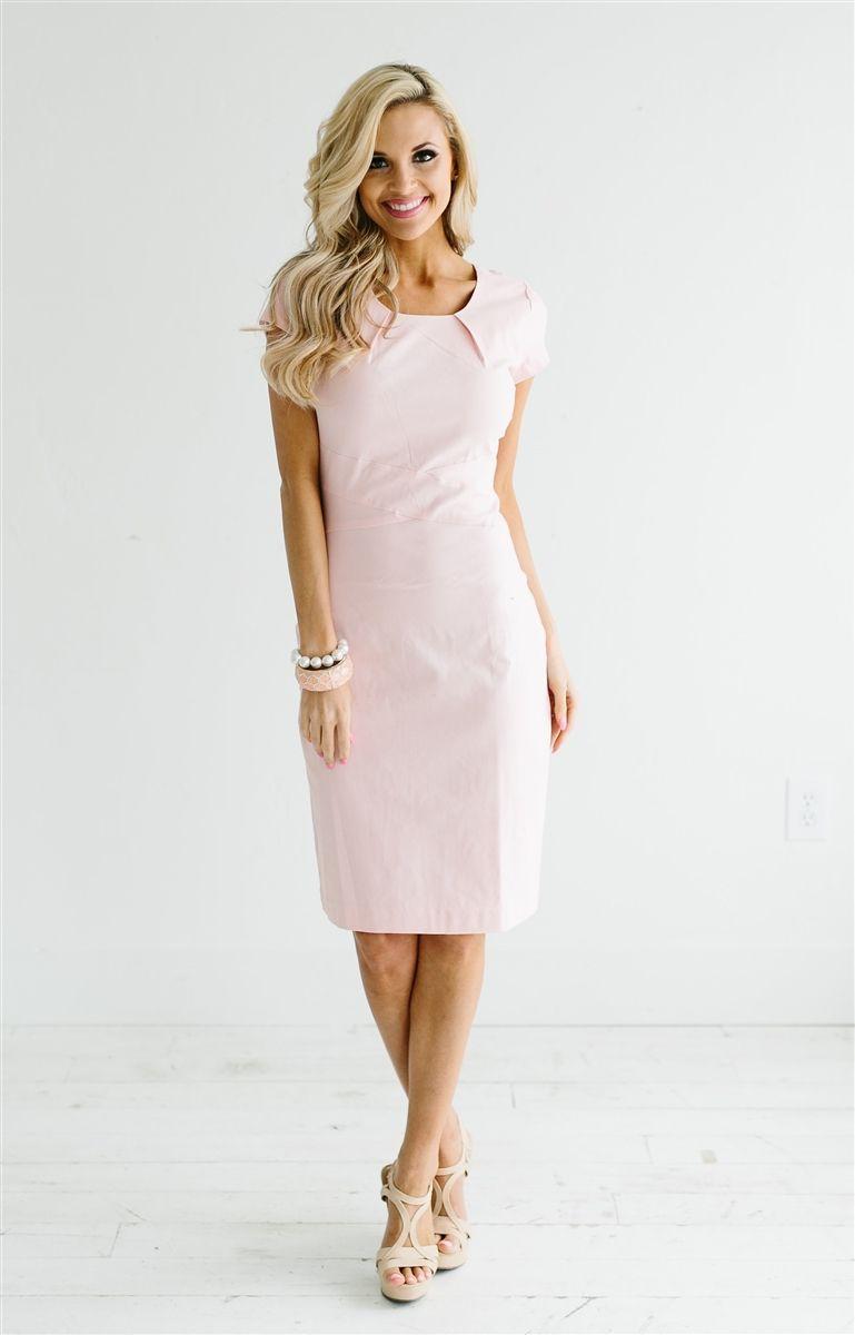 Springtime dress in pink