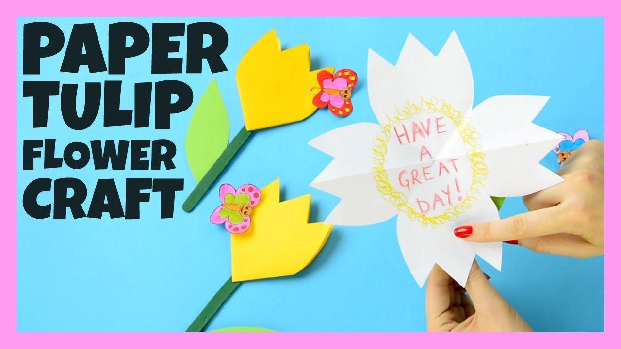 Paper Tulip Flower Craft for Kids  ΚΑΤΑΣΚΕΥΕΣ  Pinterest  Tulips