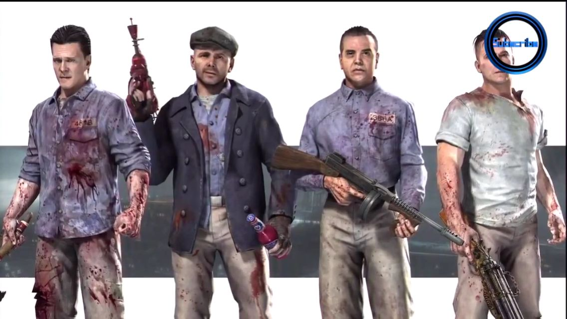 Mob Of The Dead Characters Call Of Duty Zombies Call Of Duty Black Call Of Duty