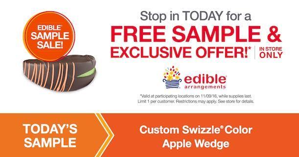 Edible Arrangements Free Custom Swizzle Color Apple Wedge