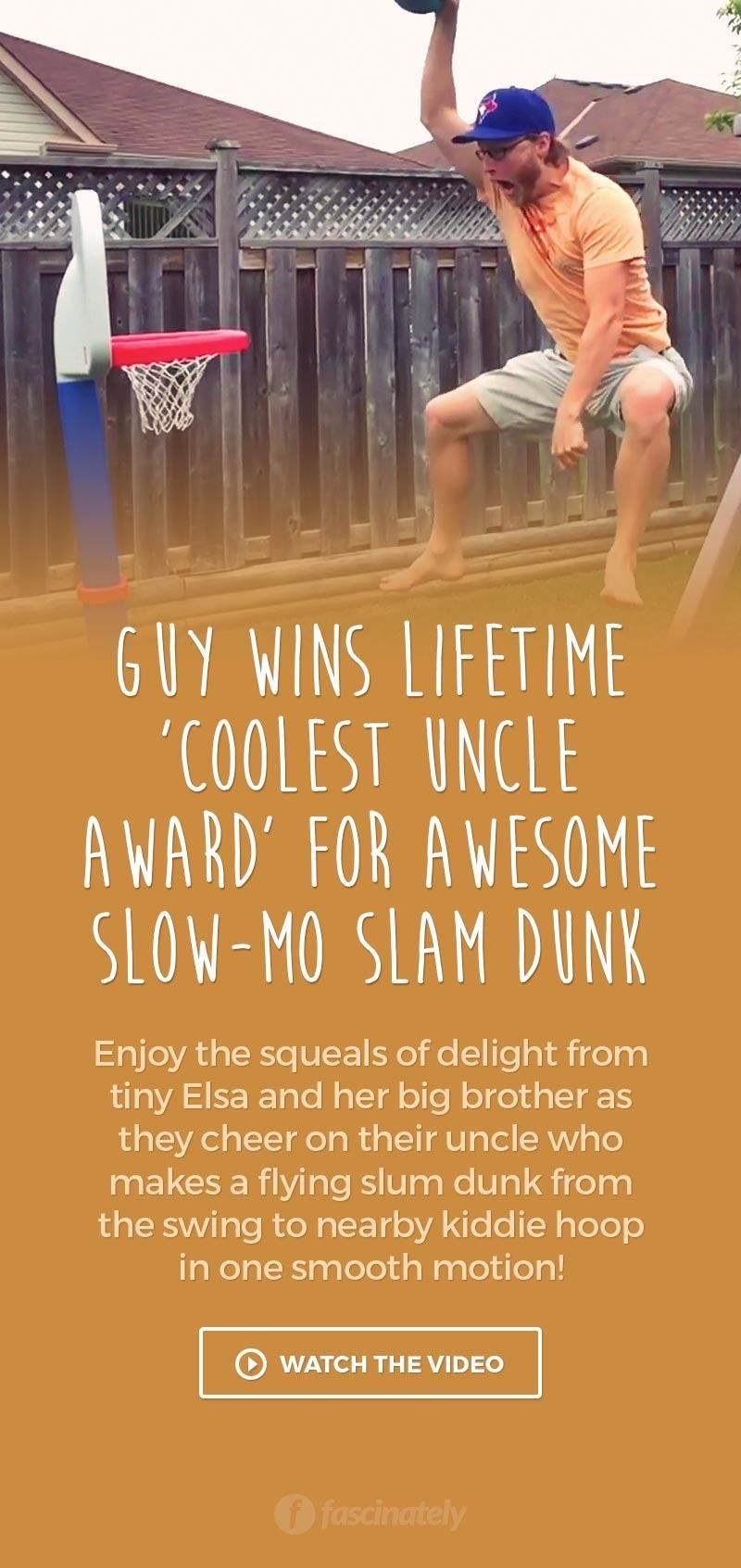 Guy Wins Lifetime 'Coolest Uncle Award' for Awesome Slow-Mo Slam