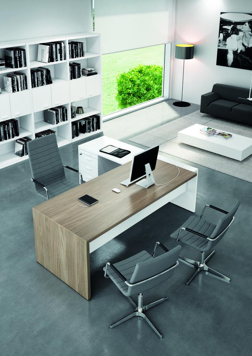 T45 escritorio de oficina con estantes colecci n t45 by for De que color pintar una oficina segun el feng shui
