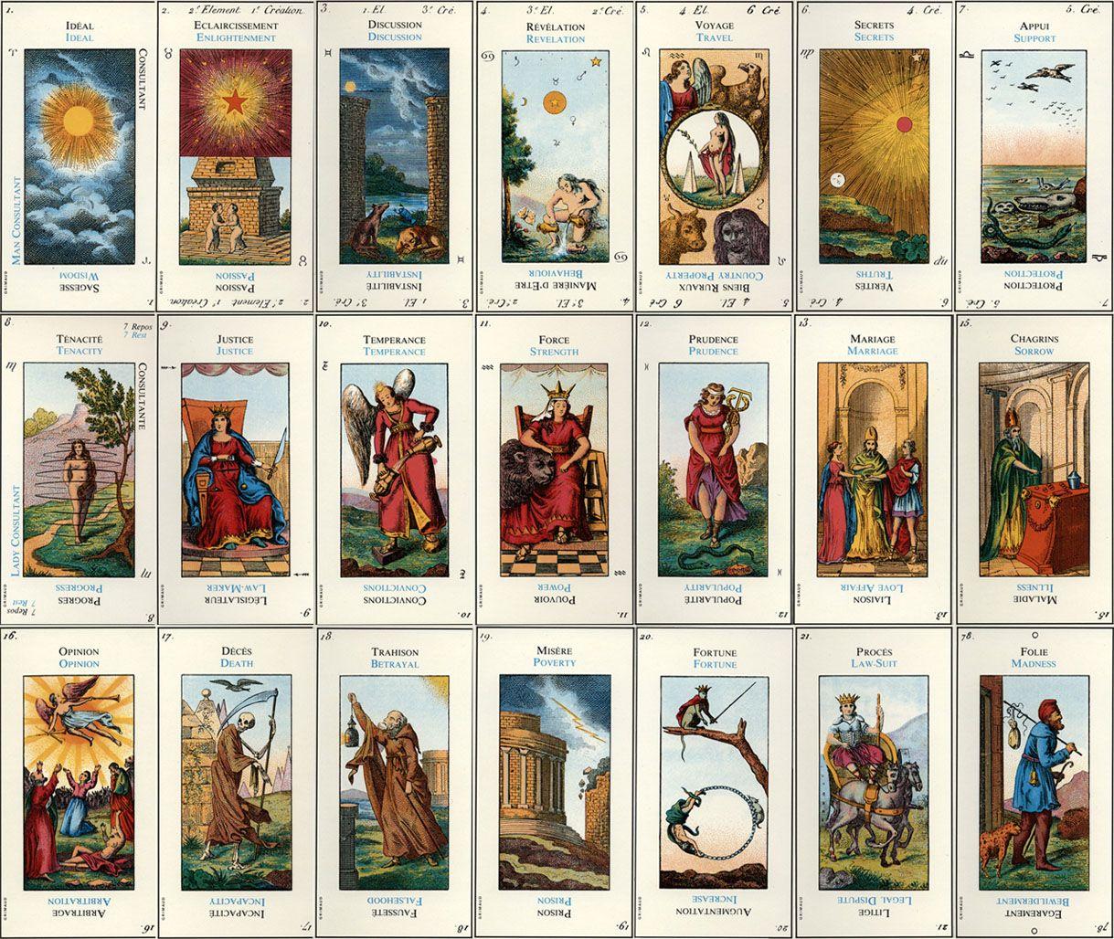 El tarot etteilla lectura del tarot gratis lectura de cartas gratis diy tarot pinterest - El espejo tarot gratis ...