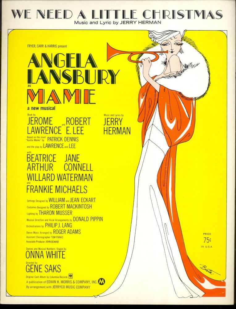 """MAME Broadway Show Sheet Music """"We Need A Little Christmas"""
