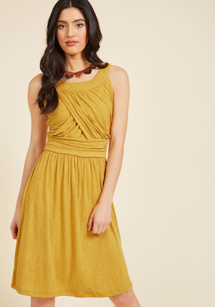 Lt P Gt What 39 S Better Than A Hang Sesh With Pals One Spent In This Gorgeous Sunflower Yellow Dress Craft A Line Dress Gathered Dress Yellow Dress Summer [ 1304 x 913 Pixel ]