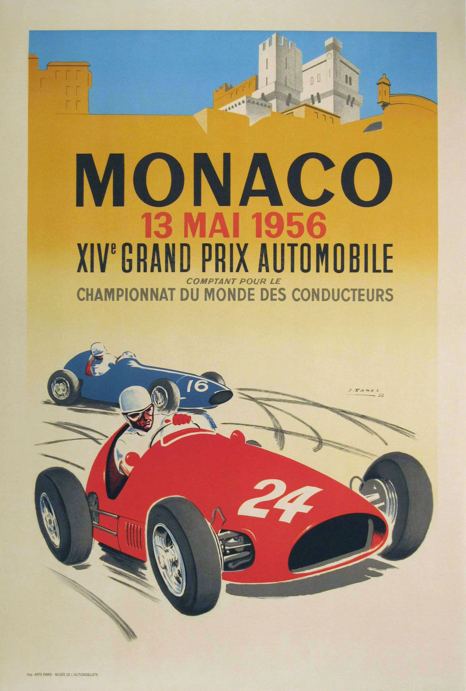 Piece Automobile Prix The Monaco Grand Prix Twenty Four Vintage Posters Auto Racing