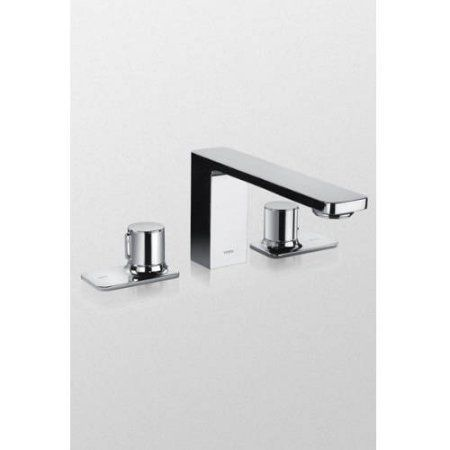 Toto TB170DD#CP Kiwami Renesse Deck-Mounted Bath Faucet Trim with Pop-Up Drain Assembly, Polished Chrome, Silver
