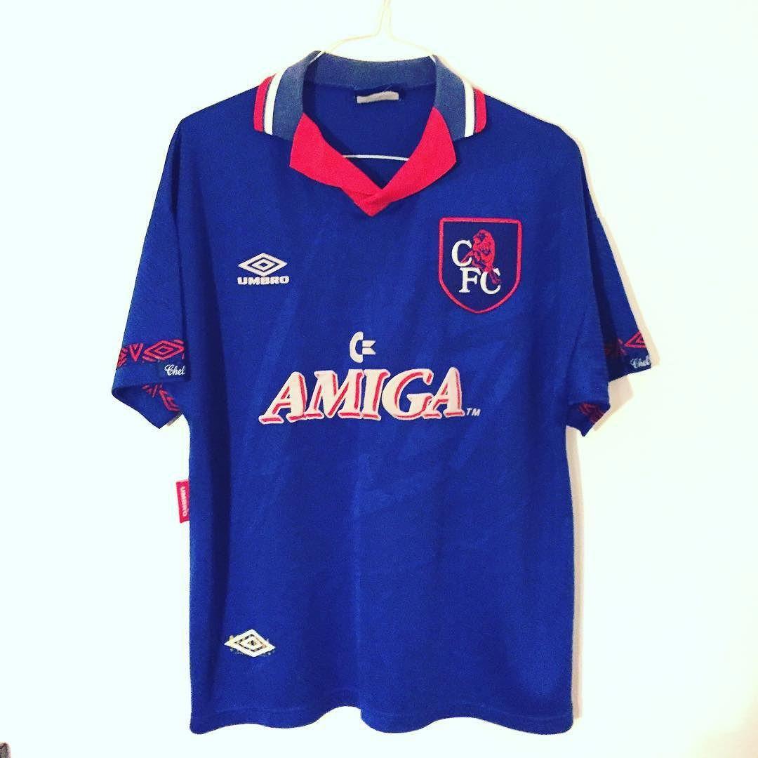 3e953f0da Chelsea Umbro 93 94 football shirt - love this Chelsea shirt w Amiga  sponsor.